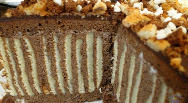 Торт «Мелодия» в разрезе